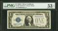 Small Size:Silver Certificates, Fr. 1601 $1 1928A Silver Certificate. PMG About Uncirculat...
