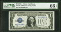 Small Size:Silver Certificates, Fr. 1601 $1 1928A Silver Certificate. PMG Gem Uncirculated...