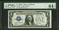 Small Size:Silver Certificates, Fr. 1601 $1 1928A Silver Certificate. I-B Block. PMG Choic...