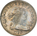 1798 $1 Large Eagle, Pointed 9, Close Date, B-27, BB-113, R.2, XF40 NGC....(PCGS# 40030)