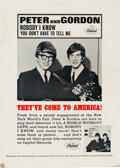 Music Memorabilia:Posters, Peter and Gordon 1964 Capitol Records Promotional Stand-Up....