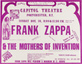 Music Memorabilia:Posters, Frank Zappa/Mothers of Invention 1974 Portchester, NY Concert Poster....