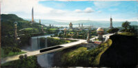 """Star Trek: Deep Space Nine Matte Painting of Bajor For Episodes """"Cardassians"""" and """"The Reckoning"""" (P..."""