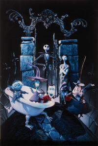 """The Nightmare Before Christmas Barrier Strip Lenticular 3-D """"Hell's Gate"""" Style 1-Sheet Poster (Disney, 1993)..."""