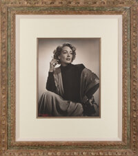 Joan Crawford Personal Oversize Presentation Photographic Portrait by Yousuf Karsh (1948)