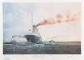 Movie/TV Memorabilia:Autographs and Signed Items, Titanic Lithographic Print Signed by (16) Survivors (ca. 1...