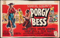 """Porgy and Bess (Columbia, 1959). Fine- on Cloth. Trimmed Belgian (Approx. 13.5"""" X 22""""). Musical"""
