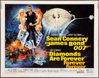 """Diamonds are Forever (United Artists, 1971). Rolled, Very Fine-. Half Sheet (22"""" X 28"""") Robert McGinnis Artwor..."""