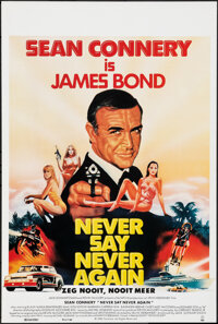 """Never Say Never Again (UGC, 1983). Rolled, Very Fine+. Belgian (14"""" X 20.5""""). James Bond"""