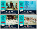 """Movie Posters:Horror, Jaws (Universal, R-1975). Fine/Very Fine. Lobby Card Set of 4 (11"""" X 14""""). Horror.. ... (Total: 4 Items)"""