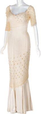 """Marilyn Monroe """"Elsie"""" Signature Pearl Encrusted Mermaid Gown from The Prince and the Showgirl<"""