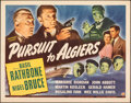 """Movie Posters:Mystery, Pursuit to Algiers (Universal, 1945). Folded, Very Fine. Half Sheet (22"""" X 28""""). Mystery.. ..."""