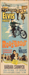"""Movie Posters:Elvis Presley, Roustabout (Paramount, 1964). Rolled, Fine. Insert (14"""" X 36""""). Elvis Presley.. ..."""