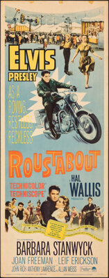 """Roustabout (Paramount, 1964). Rolled, Fine. Insert (14"""" X 36""""). Elvis Presley"""