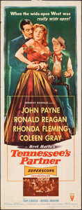 """Movie Posters:Western, Tennessee's Partner (RKO, 1955). Rolled, Fine+. Insert (14"""" X 36""""). Western.. ..."""