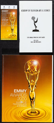 """Emmy Awards (2000). Near Mint+. Program (8.5"""" X 11"""") (Multiple Pages), Rules & Procedures Booklet (5.5&quo..."""