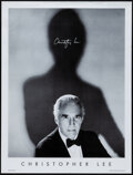 """Movie Posters:Horror, Christopher Lee (2000). Rolled, Very Fine. Signed Personality Poster (19"""" X 25""""). Horror.. ..."""