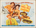 """Movie Posters:Comedy, Dig That Uranium (Allied Artists, 1955). Folded, Very Fine. Half Sheet (22"""" X 28"""") Style B. Comedy.. ..."""