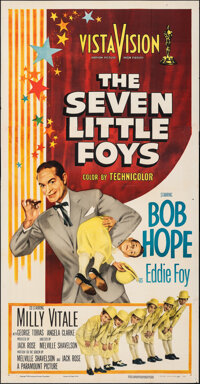 """The Seven Little Foys (Paramount, 1955). Folded, Very Fine-. Three Sheet (41"""" X 74""""). Musical"""