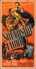 """Movie Posters:Crime, Southside 1-1000 (Allied Artists, 1950). Folded, Fine-. Three Sheet (40.25"""" X 78.75""""). Crime.. ..."""