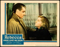 """Movie Posters:Hitchcock, Rebecca (United Artists, 1940). Very Fine-. Lobby Card (11"""" X 14"""").. ..."""