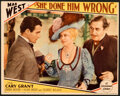 """Movie Posters:Comedy, She Done Him Wrong (Paramount, 1933). Very Fine. Lobby Card (11"""" X 14"""").. ..."""