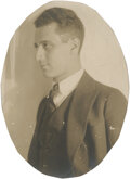 Movie/TV Memorabilia:Photos, Groucho Marx Rare Early Unpublished Photograph Out of Makeup (1922). ...