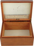 Movie/TV Memorabilia:Autographs and Signed Items, Groucho Marx Signed Personal Dunhill Humidor (ca. late 1930s). ...