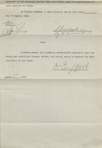 """D.W. Griffith Signed Contract for The Birth of a Nation (aka """"The Clansman"""") (D.W.Griffith Corp., 1915)"""