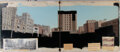 Movie/TV Memorabilia:Original Art, It's a Mad, Mad, Mad, Mad World Matte Painting Establishing Shot of a Plaza and Accompanying Materials (United Artists...