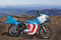 """Evel Knievel Screen Used Harley-Davidson XLCH 1000 Eagle """"Stratocycle"""" from Viva Knievel! (Warner Bros., 1977)..."""