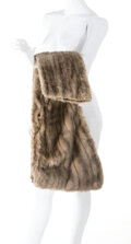 """Movie/TV Memorabilia:Costumes, Marilyn Monroe """"Pola Debevoise"""" Silver Mink Stole from How to Marry a Millionaire (TCF, 1953). ..."""