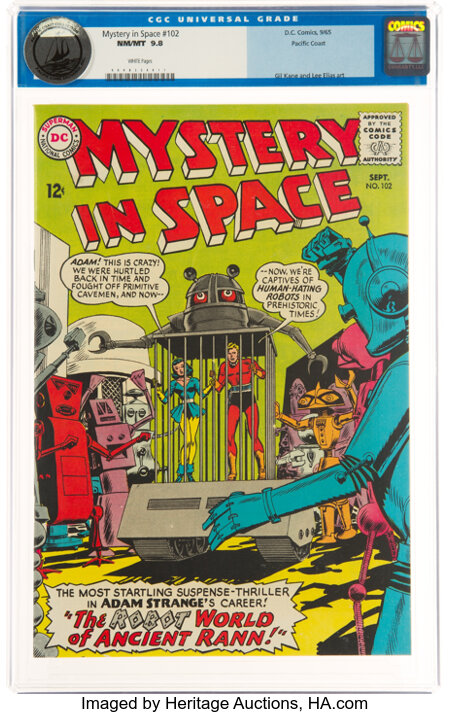Mystery in Space #102 Pacific Coast Pedigree (DC, 1965) CGC NM/MT 9.8 White pages....