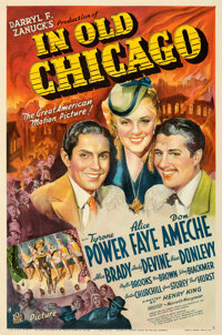 """In Old Chicago (20th Century Fox, 1937). Very Good- on Linen. One Sheet (27"""" X 41"""") Style A, Frederic C. Madan..."""