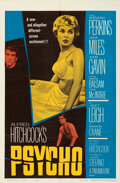 """Movie Posters:Hitchcock, Psycho (Paramount, 1960). Folded, Very Fine+. One Sheet (27"""" X 41"""").. ..."""