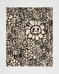 Prints & Multiples, Takashi Murakami X MADSAKI. Flowers A, Flowers B, and Flowers C (Beige, Red, and Black) (9 works), 2017. Silkscr... (Total: 9 Items)