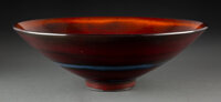 James Lovera (American, 1920-2015) Bowl Porcelain 4-3/4 x 14 inches (12.1 x 35.6 cm) Incised lovera to underside