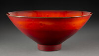 James Lovera (American, 1920-2015) Bowl Porcelain 5-1/4 x 12 inches (13.3 x 30.5 cm) Incised lovera to underside
