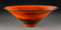 James Lovera (American, 1920-2015) Bowl Porcelain 5-1/4 x 15 inches (13.3 x 38.1 cm) Incised <