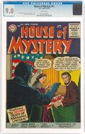 Silver Age (1956-1969):Horror, House of Mystery #51 (DC, 1956) CGC VF/NM 9.0 White pages....