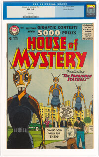 House of Mystery #53 White Mountain Pedigree (DC, 1956) CGC NM 9.4 White pages