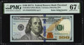 Small Size:Federal Reserve Notes, Radar Serial Number 82233228 Fr. 2189-D $100 2017A Federal...