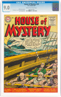 Golden Age (1938-1955):Horror, House of Mystery #39 (DC, 1955) CGC VF/NM 9.0 Cream to off-white pages....