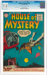 House of Mystery #45 Big Apple Pedigree (DC, 1955) CGC VF- 7.5 Light tan to off-white pages