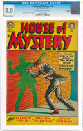 Golden Age (1938-1955):Horror, House of Mystery #16 Big Apple Pedigree (DC, 1953) CGC VF 8.0 Cream to off-white pages....