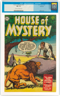 House of Mystery #29 Northford Pedigree (DC, 1954) CGC NM 9.4 Cream to off-white pages