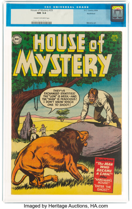 House of Mystery #29 Northford Pedigree (DC, 1954) CGC NM 9.4 Cream to off-white pages....