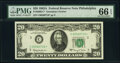 Small Size:Federal Reserve Notes, Fr. 2066-C* $20 1963A Federal Reserve Star Note. PMG Gem U...