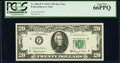 Small Size:Federal Reserve Notes, Fr. 2066-F* $20 1963A Federal Reserve Star Note. PCGS Gem ...