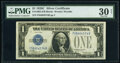 Small Size:Silver Certificates, Fr. 1603 $1 1928C Silver Certificate. F-B Block. PMG Very ...